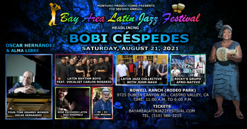 Bobi Céspedes - Headlining at The 2nd Annual Bay Areal Latin Jazz Festival