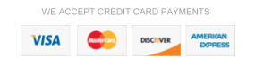 We Accept Credit Cards
